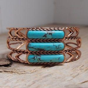 Stunning Studio Barse Copper Turquoise Bracelet